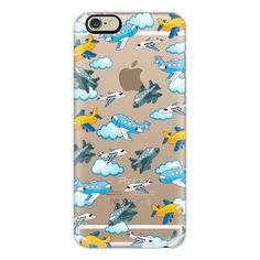 iPhone 6 Plus/6/5/5s/5c Case - Airplanes and clouds ($40) ❤ liked on Polyvore