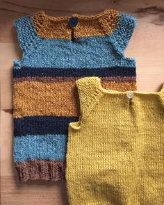 vest på rundpind Crochet Baby, Knit Crochet, Baby Vest, Baby Born, Cardigans, Sweaters, Baby Knitting Patterns, Projects To Try, Barn
