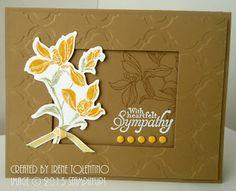 Framed Backyard Basics - Sympathy Card in Baked Brown Sugar
