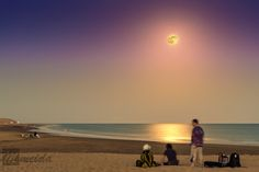 #Superluna en la playa