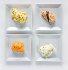 Selbstgemachte Aufstriche - Ei, Lauch, Liptauer und Sardellen