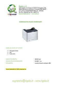 Vedi le nostre offerte su stampanti e toner chiedi un preventivo al TEL 041446349 oppure invia una mail a segreteria@rigeko.it