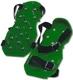 Lawn Aerator Spike Shoes Sandals  Adjustable Straps Yard and Garden Tools #MilesKimball