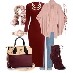 Hijab Outfit by le-hijab-de-doudou on Polyvore featuring Melissa McCarthy Seven7, Sam Edelman, Michael Kors, TravelSmith and plus size clothing