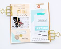 Hello,    Today I'm here to share with you another spread of my January Traveler's NotebOok ::   I used this beautiful Alpha Chipboards f...