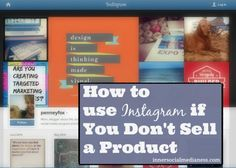 Blog post at Social Media for Business :  Instagram for Service-based Businesses I've been using Instagram personally for over a year but never thought about how to use it to grow[..]