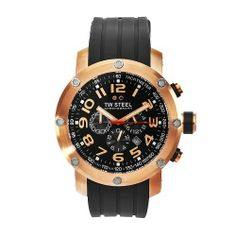 TW Steel Men's TW131 Grandeur Tech Black Rubber Chronograph Dial Watch TW Steel. $438.50. Quartz movement. Rose gold plated steel case black rubber band. Mineral crystals. Black chronograph dial. Water-resistant to 330 feet (100 M)