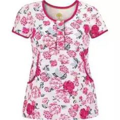 Looking for women's scrub tops or women's print tops? Find it all in one place: Uniform Advantage! Shop a wide selection of affordable scrubs today. Uniform Advantage, Hand Scrub, Healing Hands, Scrub Tops, Scrubs, Floral Tops, Lady, Blouse, Carnation