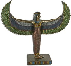 Isis Rising Statue, one of the most popular of the Egyptian Goddesses.