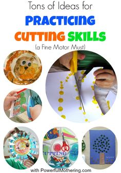 Tons of Ideas for Practicing Cutting Skills (a Fine Motor Must) from Powerfulmothering.com