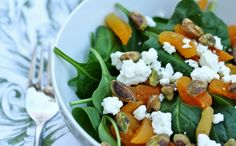 eats and beats: Dried Apricot, Goat Cheese, and Pistachio Salad