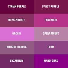 Purples Purple Color Code Prom Colors Wedding Paint