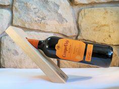 Wooden Wine Rack, Handmade Unique Balancing Oak Wine Holder Wooden Balancing wine rack,Wine stand Solid wood wine bottle holder by JandMCraftCorner on Etsy