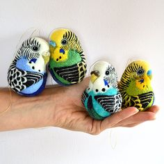 ☆★☆Made to Order Budgerigar / custom made needle felted wool ornament based on photos of your pet bird - pet bird sculpture / portrait