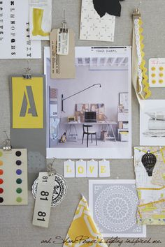 great inspiration board and i totally need that desk set up…