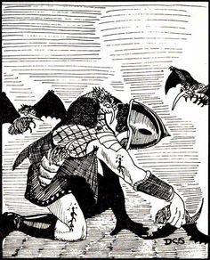 Stirges, man. Low hit dice, but if enough of them latch on and start draining blood you're in trouble. (David Sutherland from the AD&D Monster Manual, TSR, 1977.)
