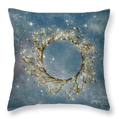 """""""Stardust and Pearls"""" ~ © 2010 RC deWinter This lovely vintage-stye piece translates beautifully to home decor. Shown here as a 14' x 14' throw pillow, available in a variety of sizes."""