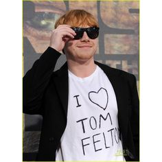 RUPERT LOVES TOM FELTON ❤ liked on Polyvore featuring rupert grint, harry potter, people, random and boys