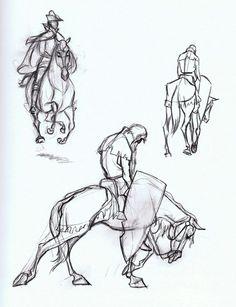 Sleeping beauty disney drawing — Horse studies