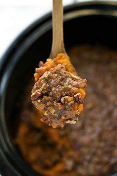 A delicious sweet potato casserole with pecans all made in the slow cooker. One way to save some oven space for Thanksgiving is to use the crockpot! It's time for some Thanksgiving recipes!! The hu...