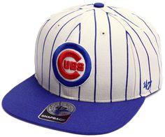 0d5de2d7f9b2d Chicago Cubs Natural Pinstripe Captain Snapback by  47 Brand  ChicagoCubs   Cubs  FlyTheW