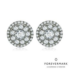 4c49872d5 Forevermark Diamond Center of My Universe Double Halo Earrings in 18kt White  Gold (1ct tw)