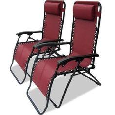 Zero Gravity Lounge Chairs Set of 2 Chaise Poolside Beach Comfort Deck Lounger #ZeroGravityChaiseLoungeChairs