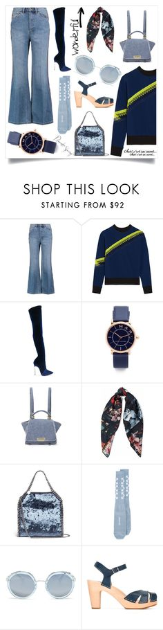"""""""Minimal and chic"""" by emmamegan-5678 ❤ liked on Polyvore featuring Marc by Marc Jacobs, Casadei, Marc Jacobs, ZAC Zac Posen, Kenzo, STELLA McCARTNEY, Off-White, Prada, Swedish Hasbeens and modern"""