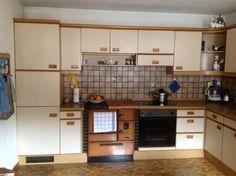 70er Jahre Möbel, Hochglanzküche orange, allmilmö, Raumteilerwand ...