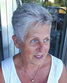 Feathered Pixie Haircut For Older Women