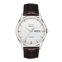 Visodate Men's Silver Automatic Brown Leather Strap Watch Item number: T0194301603101  Length / Width / Thickness Length 40mm / Width 39.3mm / Thickness 11.6mm Battery Life / Power Reserve No / 42 Hours