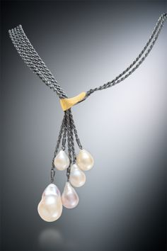 Beautiful pearls inspired this necklace (and an entire collection)