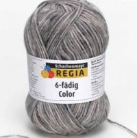 Regia 6-Fadig Color - 6Ply Sock Coloured at Laughing Hens