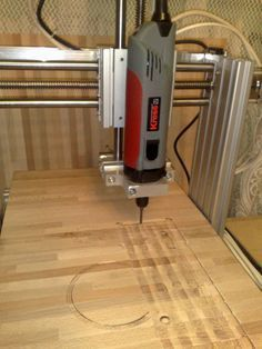 Easy Woodworking Projects Home made cnc router - Mini CNC Router, Complete Plans and Instructions: Small Woodworking Projects, Woodworking Saws, Cnc Projects, Auction Projects, Computer Projects, Woodworking Store, Popular Woodworking, Woodworking Furniture, Carpentry