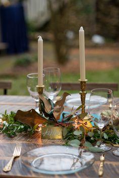 Whimsical Woodland Inspired Candle Centerpieces | Kathy Thomas Photography