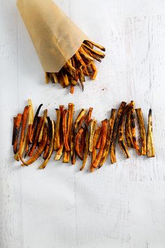 """Old Bay Fries"" with a variety of root vegetables and old bay seasoning."