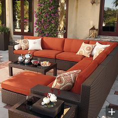 Such pretty patio furniture!