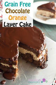 Chocolate Orange Layer Cake #grainfree