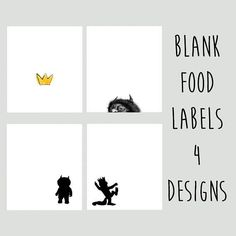 Where The Wild Things Are Food Labels Printable Digital Boys 1st Birthday Party Ideas, Wild One Birthday Party, First Birthday Decorations, Baby First Birthday, First Birthday Parties, First Birthdays, Fourth Birthday, Wild Ones, Wild Things