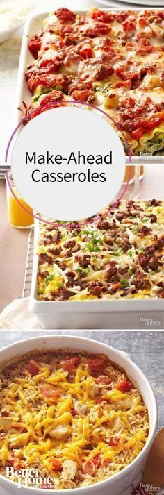 Whether you're always craving pasta, enchiladas, chicken bake, a breakfast casserole, or another comforting casserole dish, create a casserole now and save it for later. The next time youre in a hurry, youll have a casserole ready to warm up in the oven