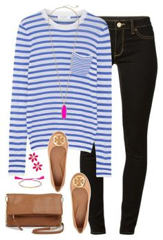 """"""""""" by kaley-ii ❤ liked on Polyvore featuring MICHAEL Michael Kors, Equipment, Kendra Scott, Tory Burch and Kate Spade"""