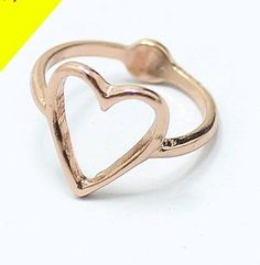 cheap hollow heart fashion ring ,only $0.99 shop at Costwe.com