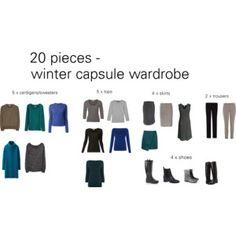 20 pieces winter wardrobe capsule