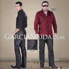Pantalon Lamasini Jeans 1159 Cuero Opaco, corte Recto. Bordado de bolsa.