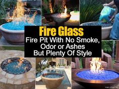Fire Glass – Fire Pit With No Smoke Odor or Ashes And Plenty Of Style