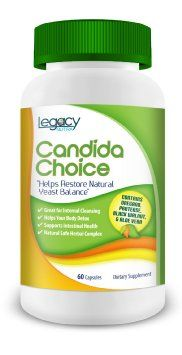 """Legacy Nutra's #1 Candida Cleanse Yeast Overgrowth Pills with Aloe Vera, Lactoacilius Acidophilus, Oregano Oil, Wormwood, Reishi Mushroom, Anise Seed, Caprylic Acid, Protease & More ? Best Yeast Cleanse & Detox to Fight Against Candida Fungus So You Can Be Clear of Candida Overgrowth With Safe & Effective Cleansing ? BUY 2 and Get FREE Shipping ? Backed By Our """"It Works Or Your Money Back"""" GUARANTEE"""