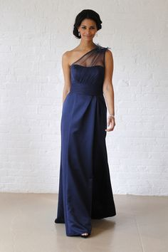 It's amazing how a piece of sheer fabric can absolutely transform a gown. We first saw illusion necklines hit the bridal runways just before the Royal Wedding, and the trend has grown ever since, now expanding to bridesmaid styles.