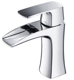 Fortore Single Hole Mount Bathroom Vanity Faucet in Chrome Finish