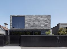 Canterbury Road Residence Toorak architect : b.e architecture Like a naturally occurring trilithon found in rock formations, the Canterbury Road Residence is made up of three simple structures, clad Modern Architecture Design, Australian Architecture, Australian Homes, Architecture Photo, Residential Architecture, Modern Design, Canterbury, Coastal Homes, New Homes