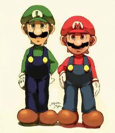Mario and Luigi Super Mario And Luigi, Super Mario Art, Super Mario World, Super Mario Brothers, Mario Fan Art, Nintendo World, Mario Party, Super Smash Bros, Cute Wallpapers
